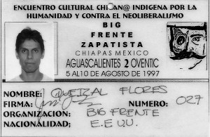 Quetzal Big Frente Zapatista Badge